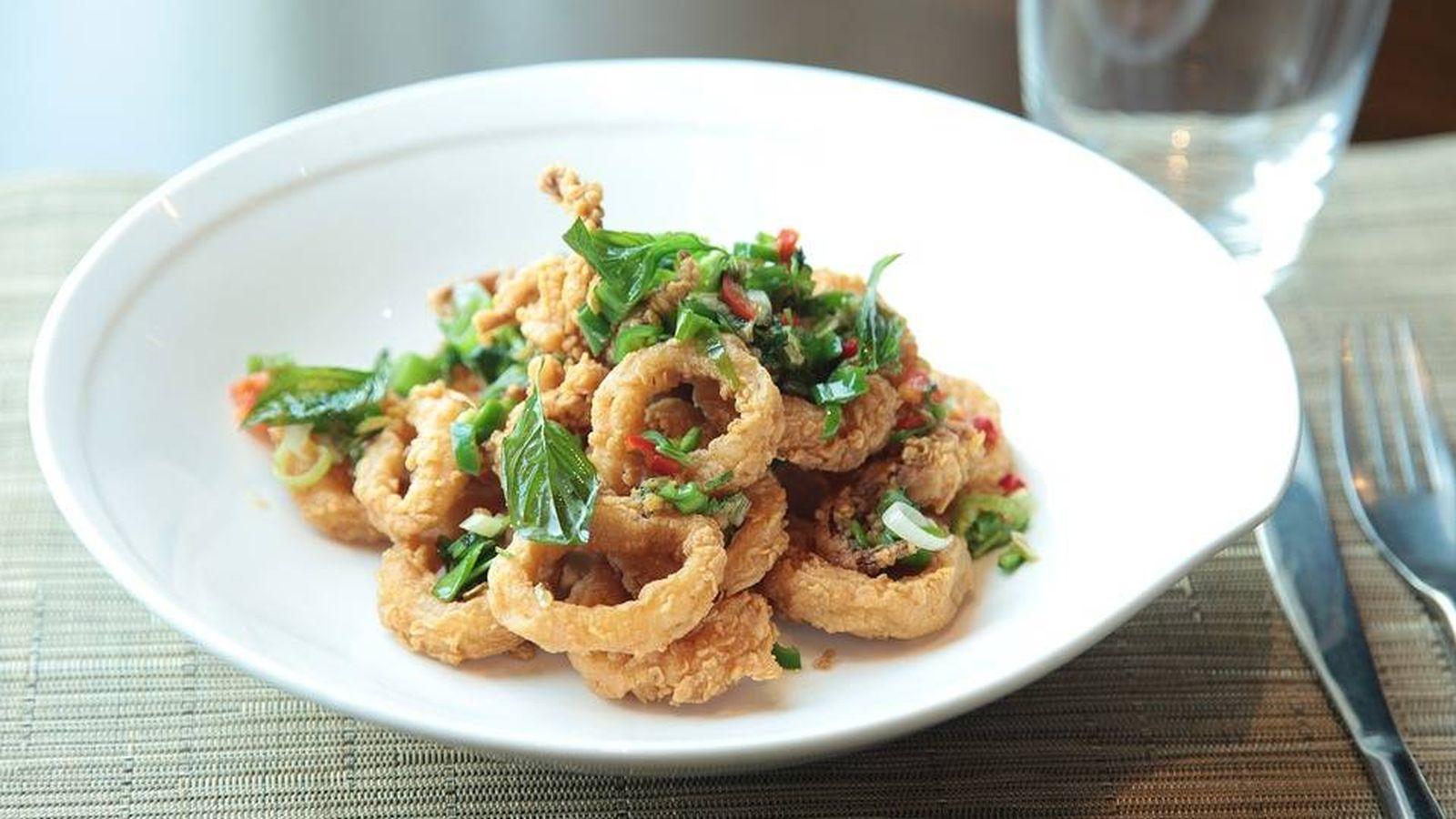 Foto: Un plato de calamares fritos.
