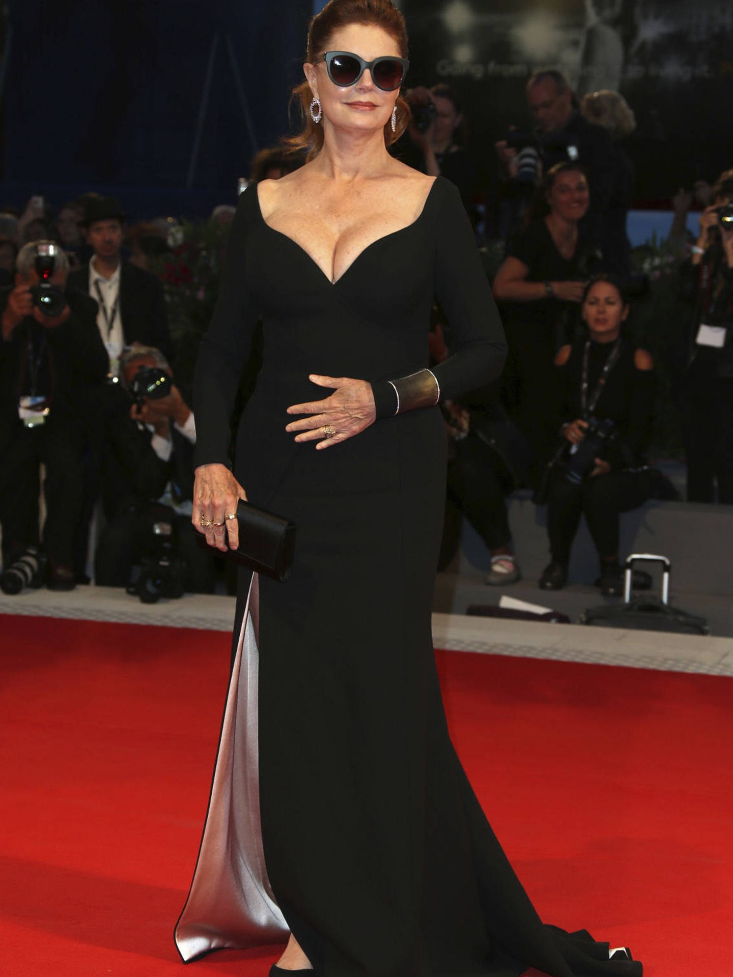 Susan Sarandon con vestido de la firma Hugo Boss. (Gtres)