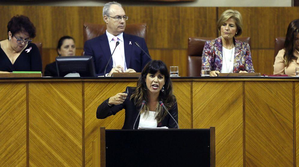 Foto: La portavoz de Podemos, Teresa Rodríguez. (EFE)