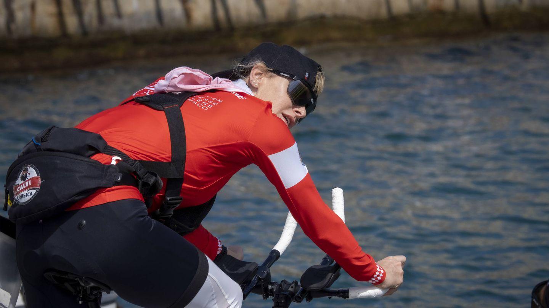 Charlène de Mónaco participa en la Water Bike Challenge. (Getty)