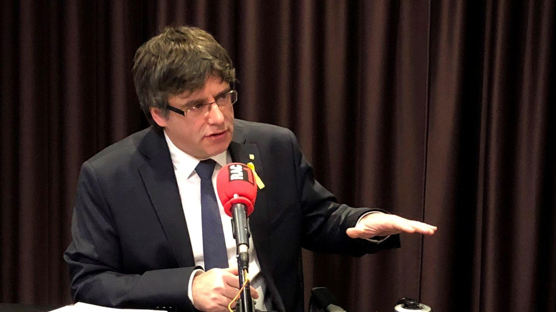 Fotografía facilitada por RAC-1 del líder de Junts per Catalunya (JxCAT), Carles Puigdemont. (EFE)