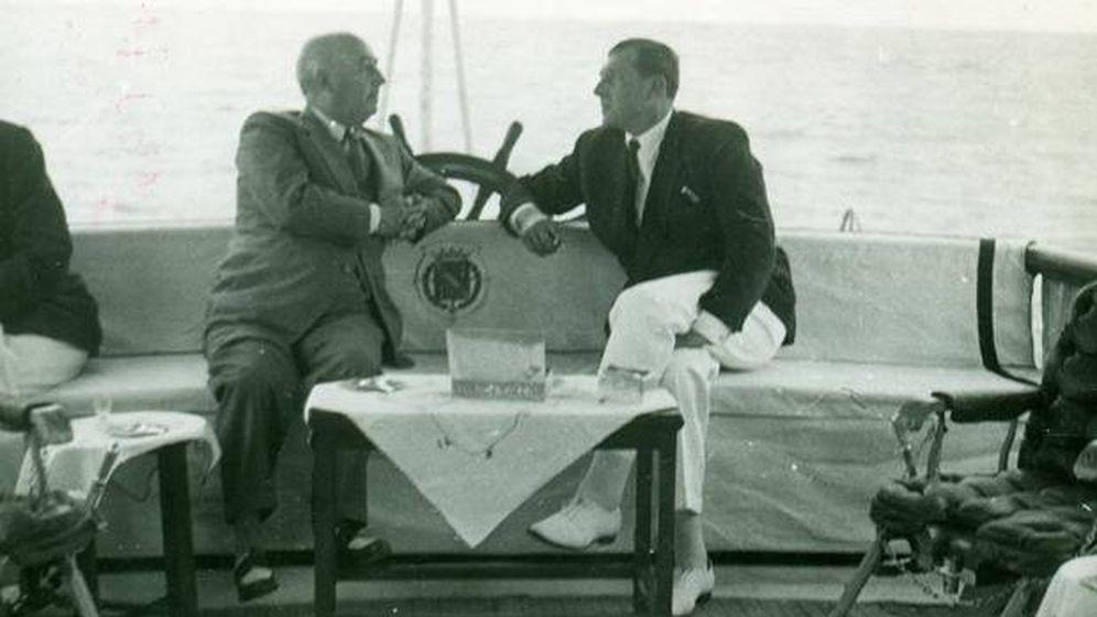 Foto: Francisco Franco y don Juan de Borbón