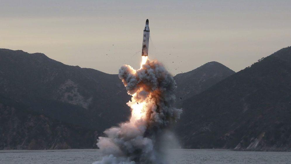 Foto: Corea del norte dispara un misil. (EFE)
