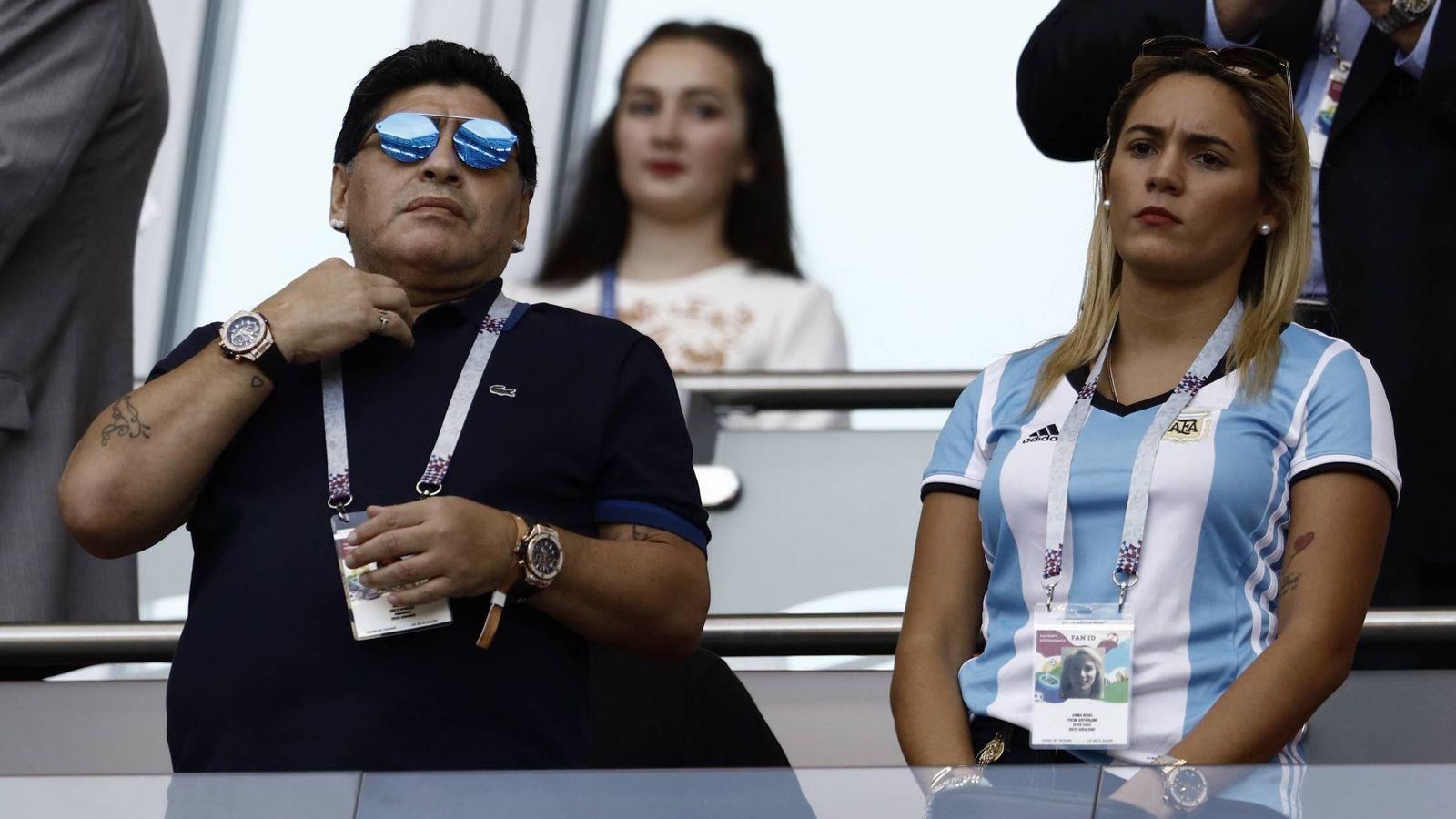 Foto: Diego y Rocío, durante el Mundial de Rusia. (Cordon Press)