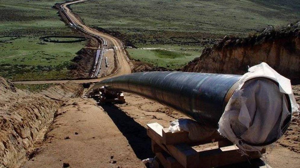 Foto: Foto de las obras del gasoducto de Perú.