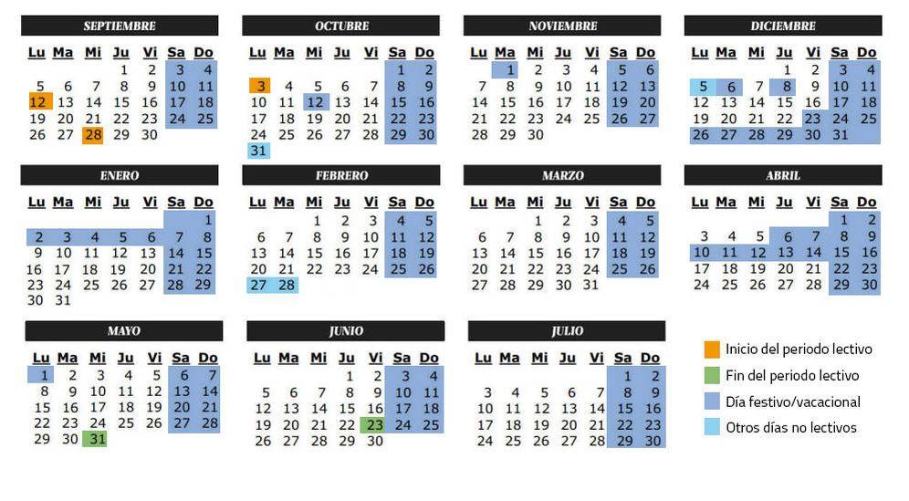 Foto: Calendario escolar del curso 2016-2017 en Castilla y León (C.Castellón)