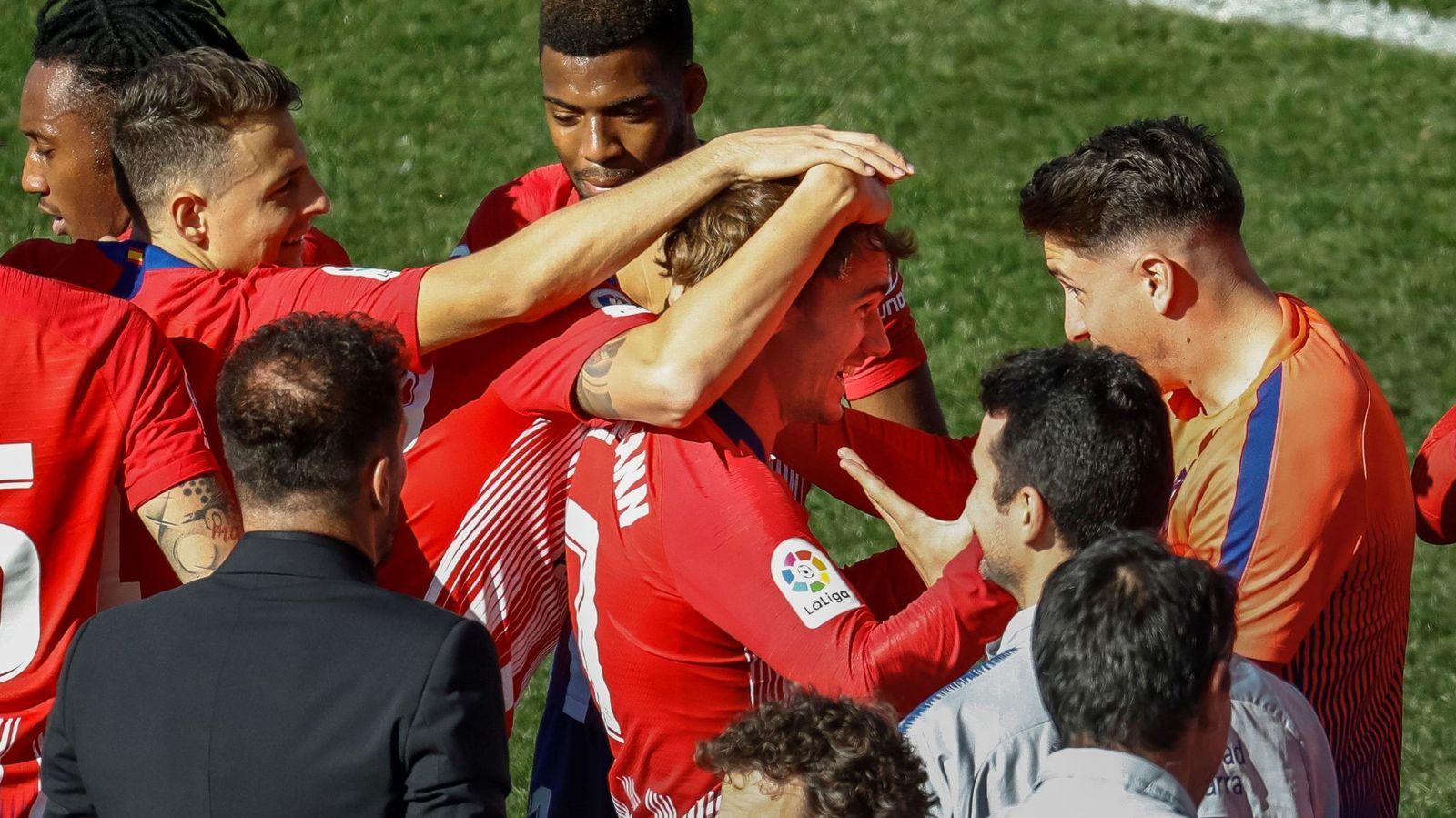 Foto: Los jugadores del Atlético de Madrid celebran un gol. (EFE)