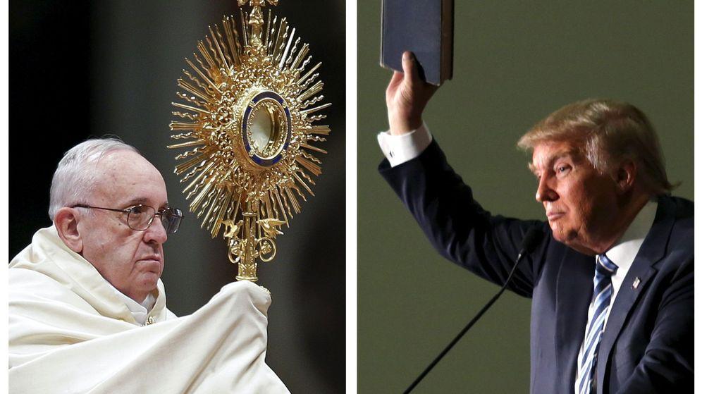 Foto: Fotografías de archivo del Papa Francisco y Donald Trump en 2015 (Reuters)