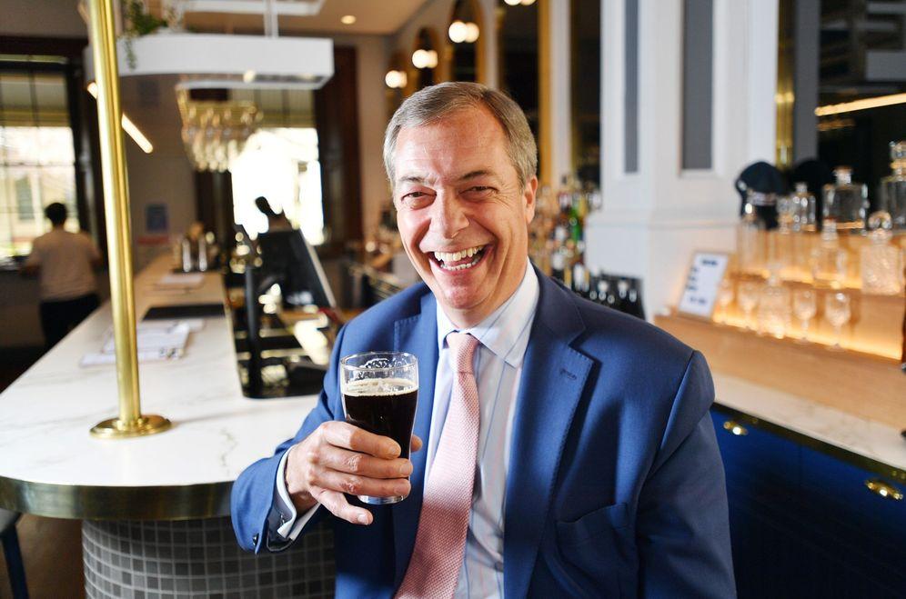 Foto: A Nigel Farage le dio muy buen resultado hablar de inmigración. Sus ideas, ahora en Europa. (David Mariuz/Efe)