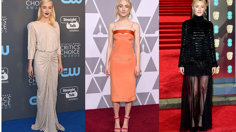 Elizabeth Saltzman es quien se encarga de vestir a Saoirse Ronan. (Fotos: Instagram y Gtres)