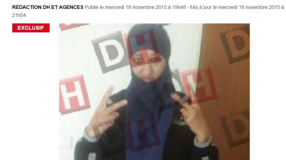Foto: El diario belga 'La Dernière Heure' publica en exclusiva una foto de Hasna Aitboulahcen (dhnet.be)
