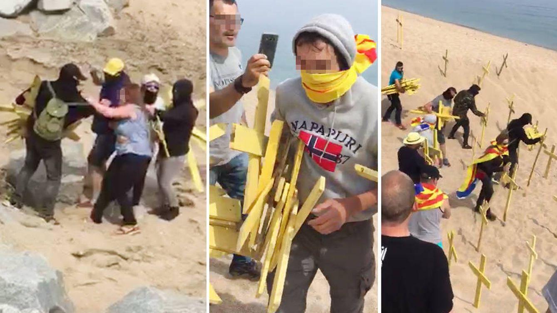 Els Segadors del Maresme: así es la brigada que limpia las playas catalanas de cruces