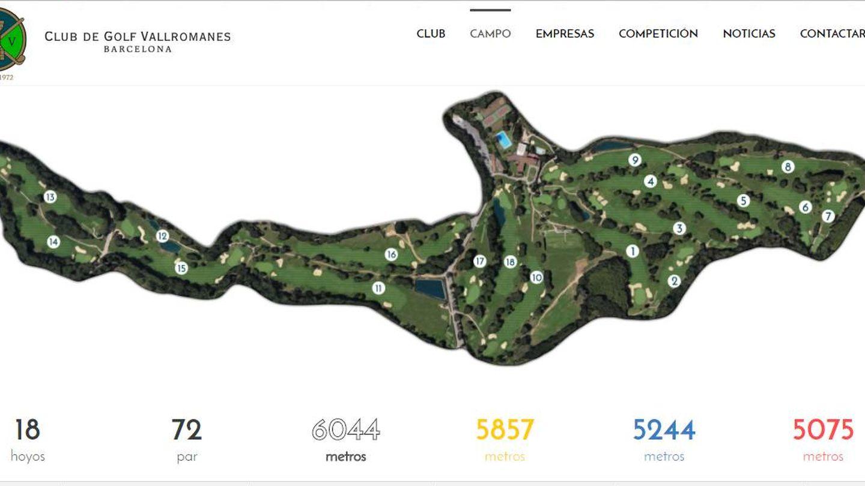 Mapa del Club de Golf Vallromanes.