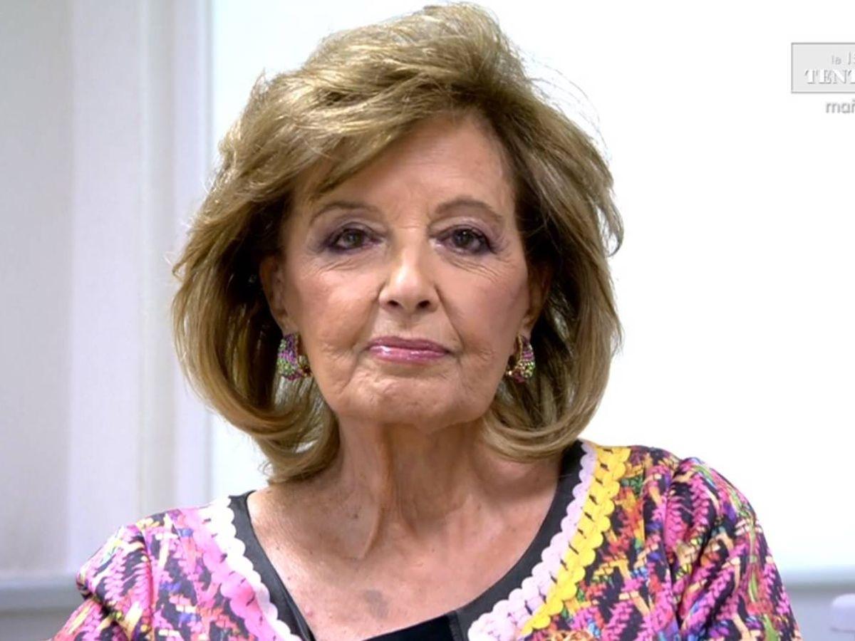 Foto: María Teresa Campos, hablando en 'Sábado Deluxe'. (Telecinco)