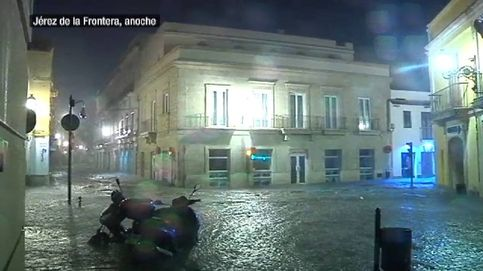 Jerez, inundada durante cinco horas
