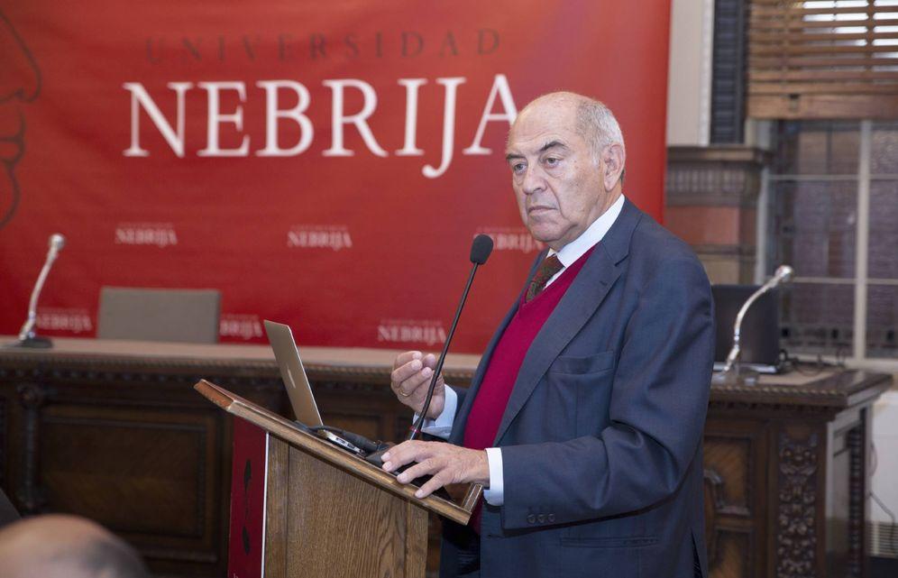Foto: El autor en el evento celebrado en la Universidad de Nebrija. (Universidad de Nebrija)