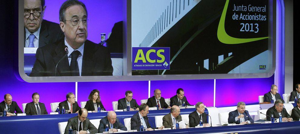 Foto: El presidente de, ACS Florentino Pérez, durante la Junta General Ordinaria de Accionistas. (Efe)