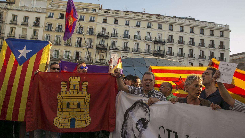 Concentración en Madrid contra las detenciones en Cataluña. (EFE)