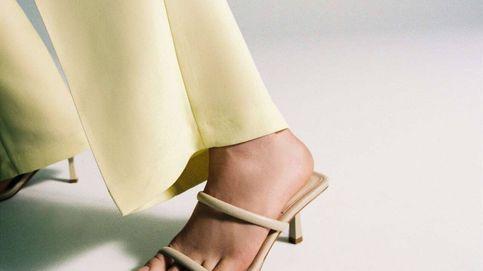 No vas a separarte de estas sandalias de tacón sensato de Zara