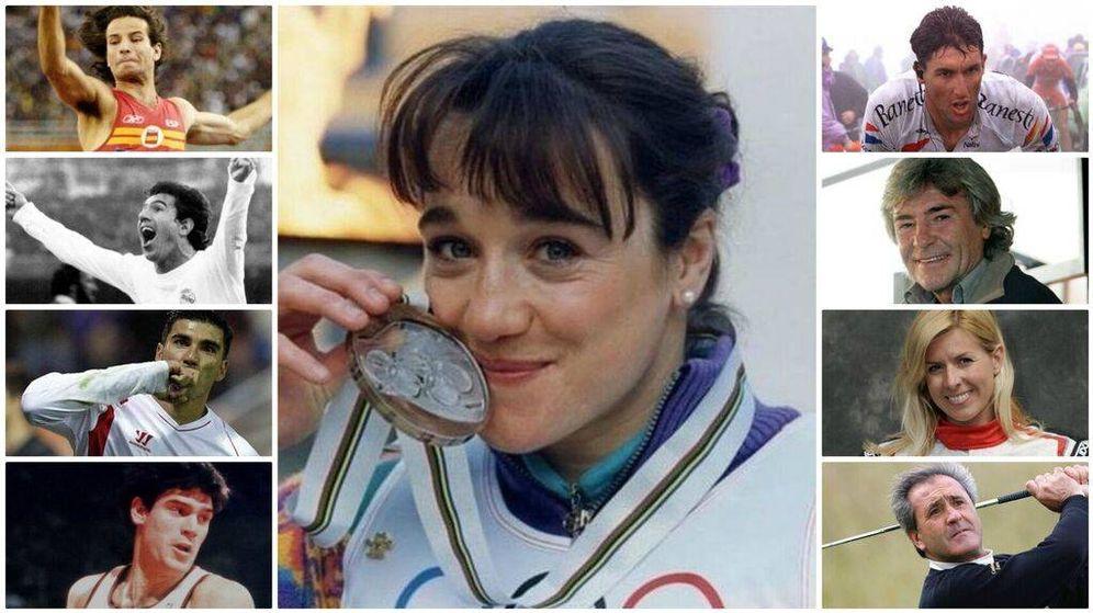Foto: Algunos de los principales deportistas españoles que ya no están entre nosotros.