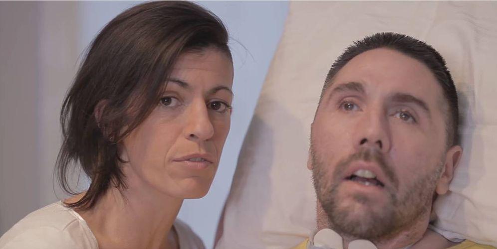 Foto: Fabio Antoniani, en una captura de pantalla del video en el que pide al presidente italiano que se debata la eutanasia
