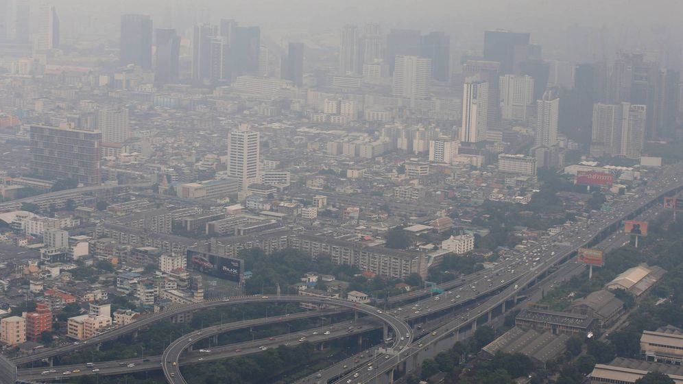 Foto: Ciudad con altos niveles de contaminación. Foto: EFE/Rungroj Yongrit