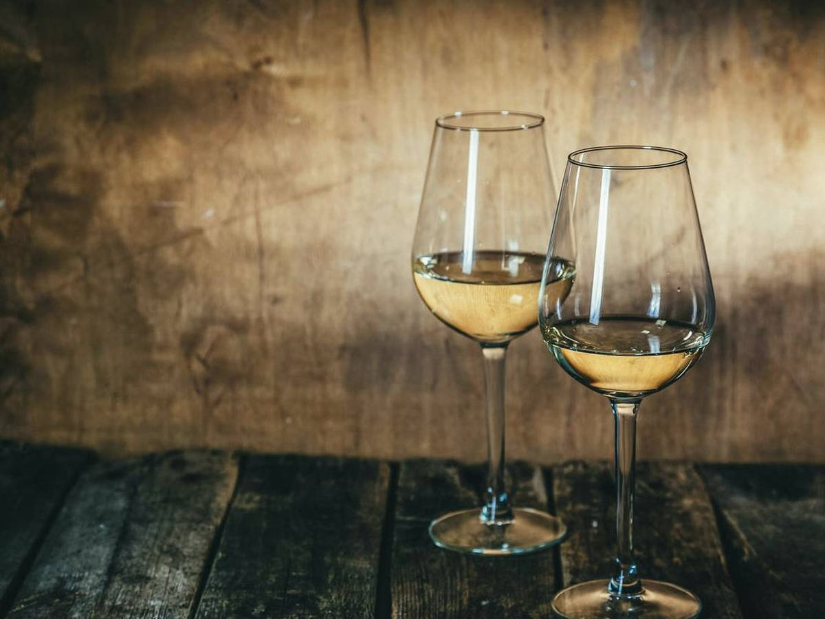 Foto: Vino blanco.