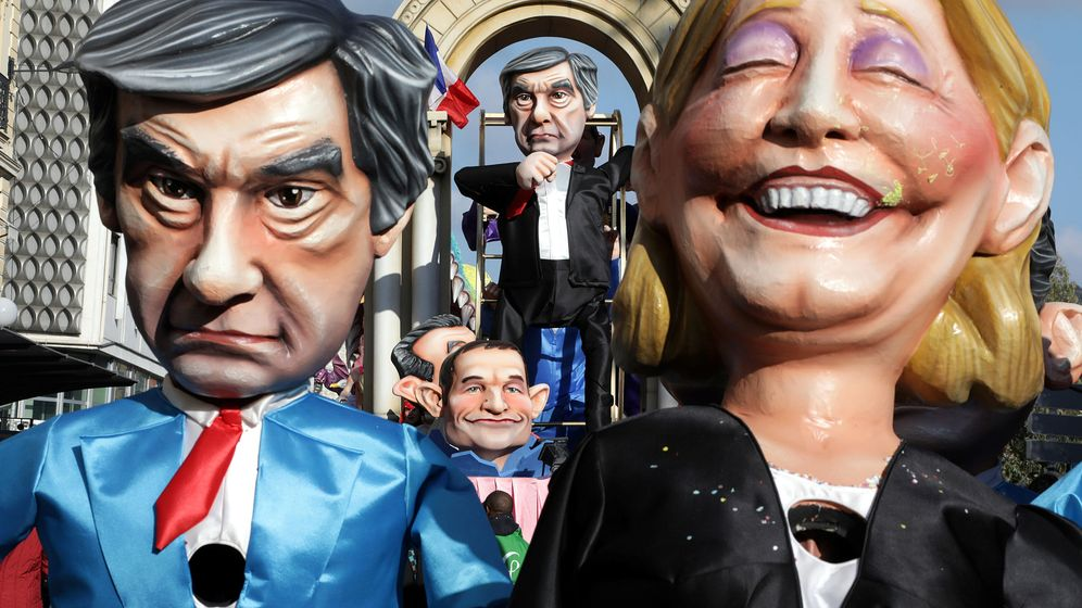 Foto: Figuras de Fillon y Le Pen (Reuters)