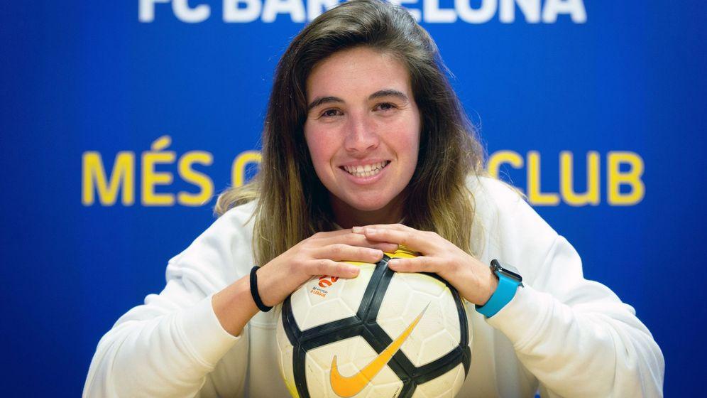 Foto: Mariona Caldentey, en las instalaciones del Barça. (EFE)
