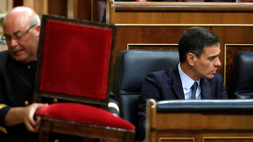Foto: Pedro Sánchez en la segunda jornada del debate de investidura. (EFE)