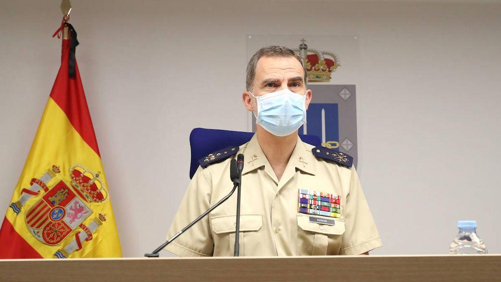 Foto: El rey Felipe VI, en el MOPS por el Día de las Fuerzas Armadas. (Limited Pictures)