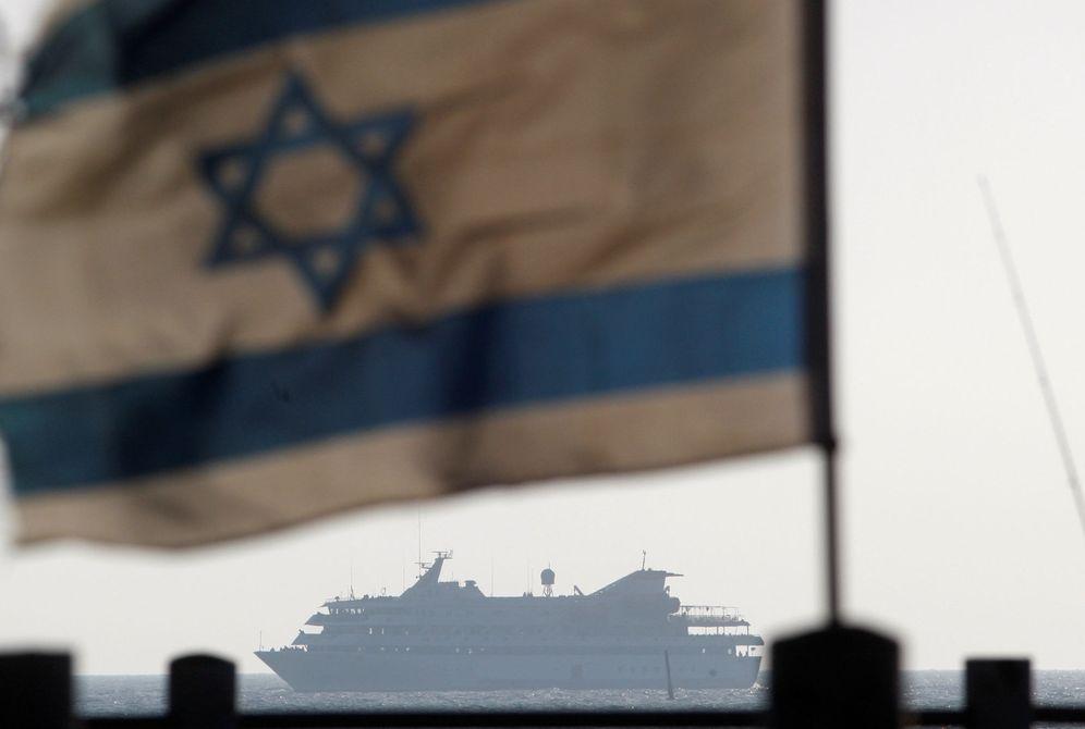 Foto: Una bandera israelí en el puerto de Ashdod, el 31 de mayo de 2010 (Reuters).