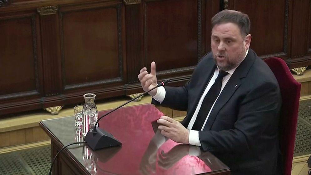 Foto: Oriol Junqueras durante su declaración. (EFE)