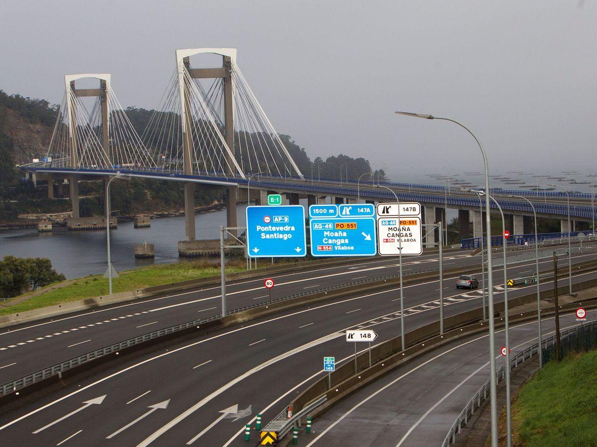 Foto: Vista de la AP-9 a su paso por Vigo, Pontevedra. (EFE)