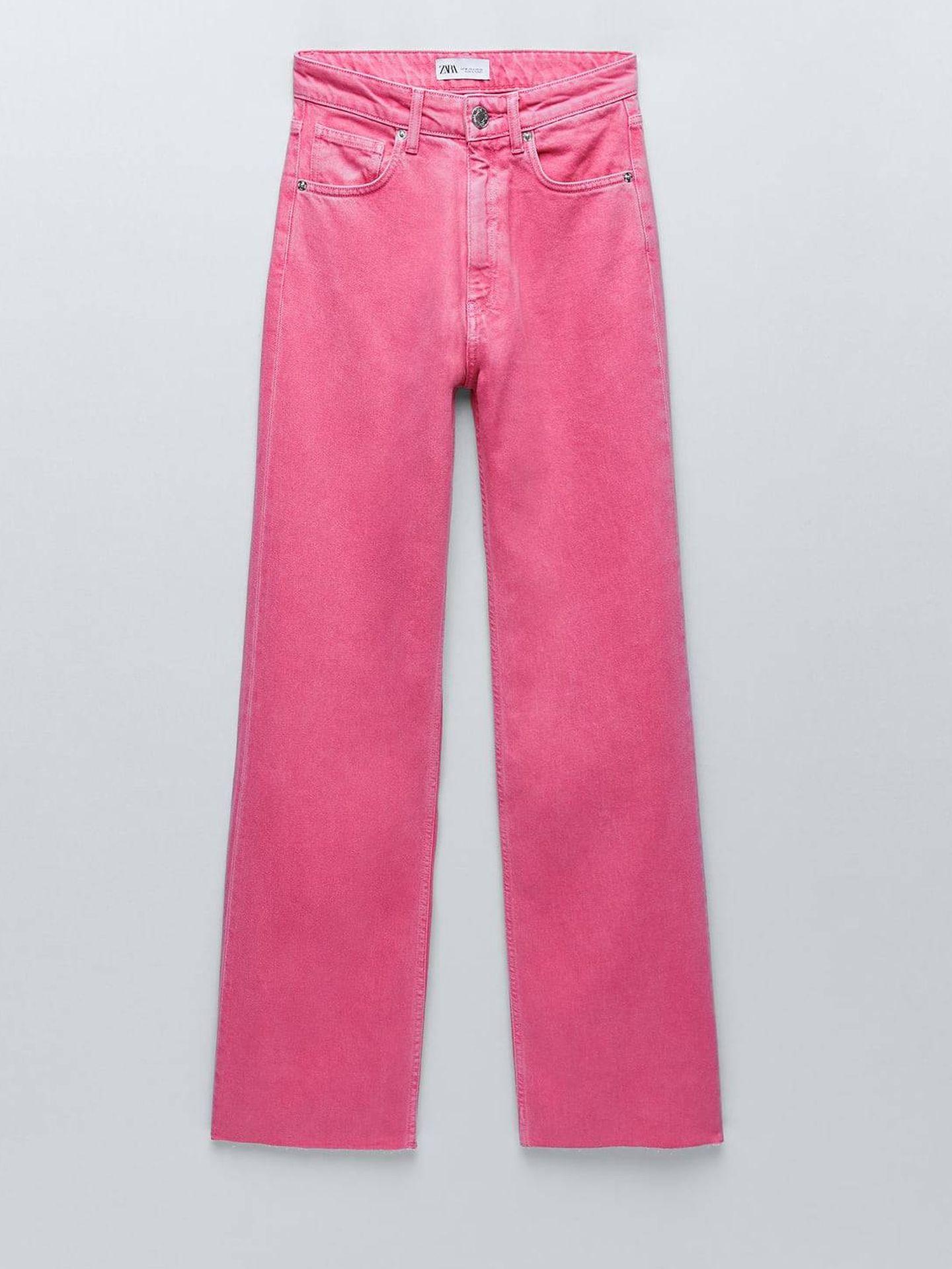 Vaquero rosa de Zara. (Cortesía)