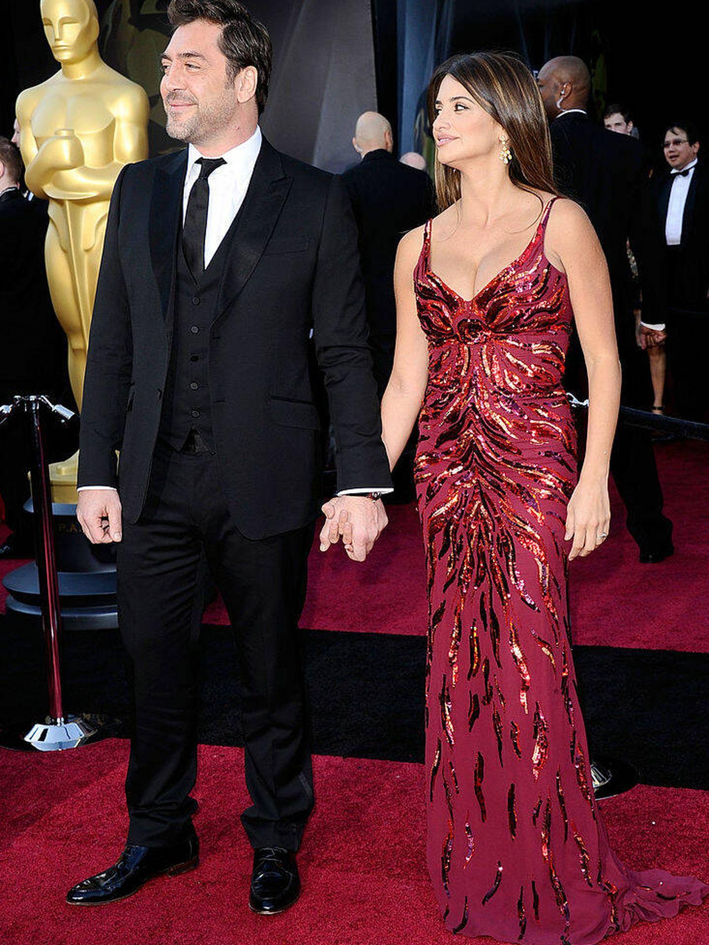 Javier Bardem y Penélope Cruz, en los Oscar de 2011. (Getty)