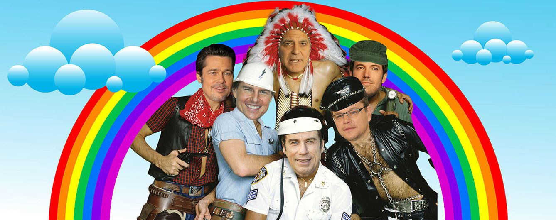 Foto: Tom Cruise, Brad Pitt o John Travolta forman el lobby gay más disparatado de Hollywood