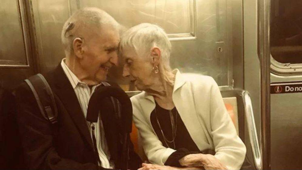 Foto: El metro, Marilyn y Lester. (Blake Ricker)