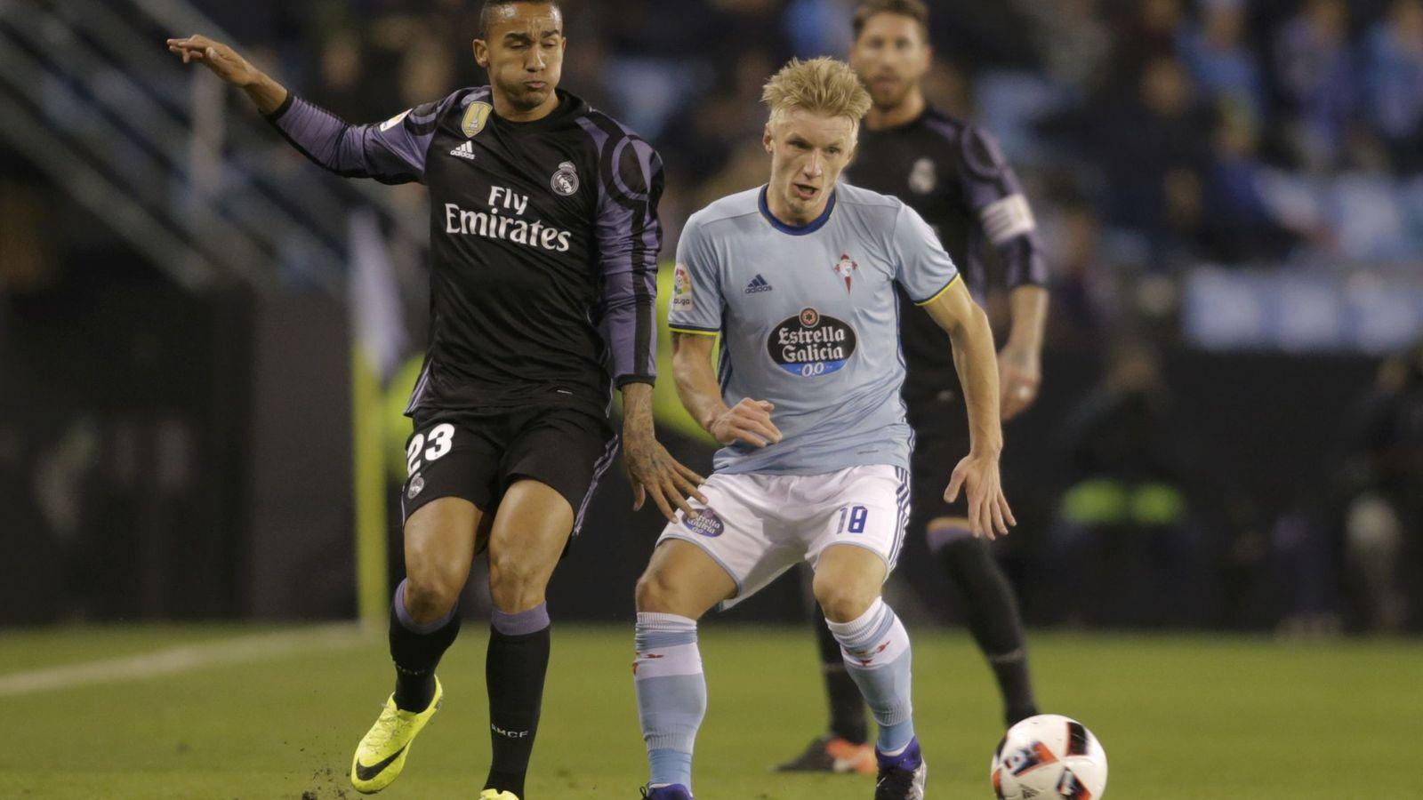 Foto: Danilo, en un lance del partido de Copa que el Real Madrid disputó en Balaídos ante el Celta (Reuters)