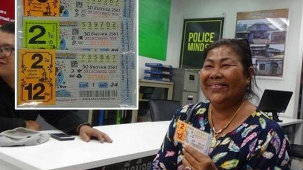 Foto: Dos premios en apenas un año para esta afortunada y caritativa tailandesa (Foto: Facebook)