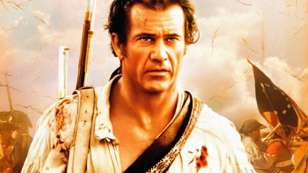 Foto: Mel Gibson, en el cartel de la película 'El patriota'.