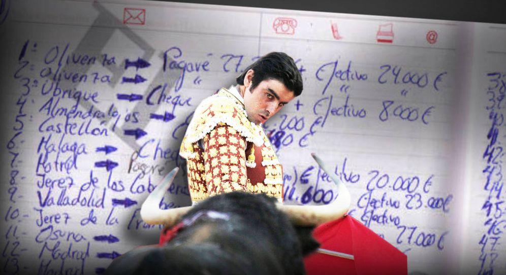Foto: La agenda de Perera con los cobros. (EC)