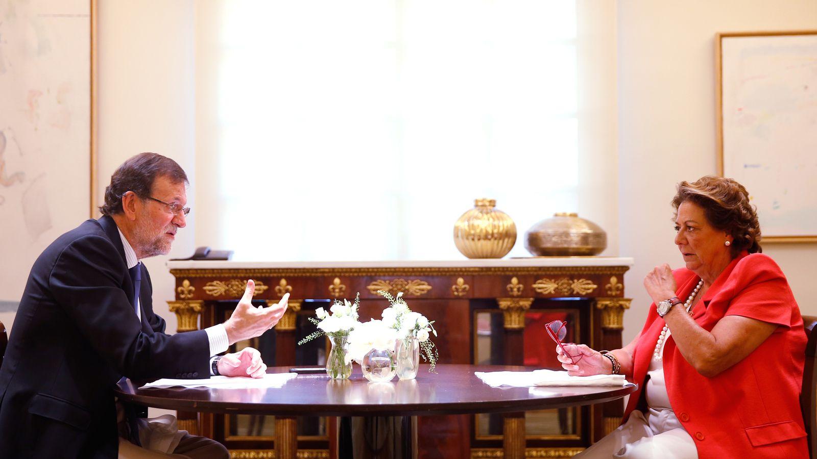 Foto: Mariano Rajoy y Rita Barberá. (Foto: Moncloa)