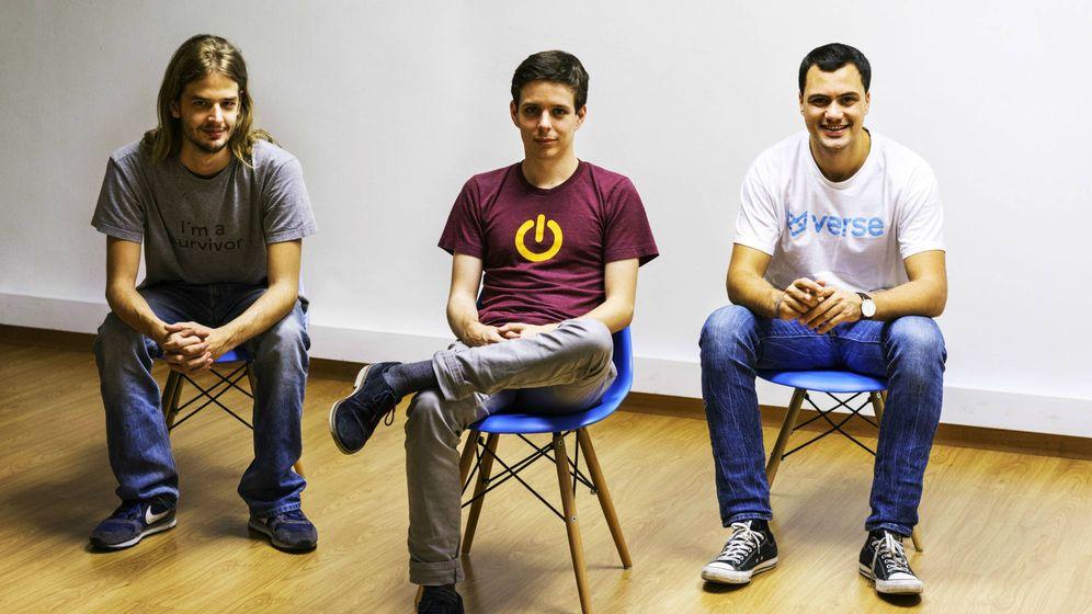 Foto: De izquierda a derecha, Dario Nieuwenhuis, Borja Rossell y Alex Lopera.