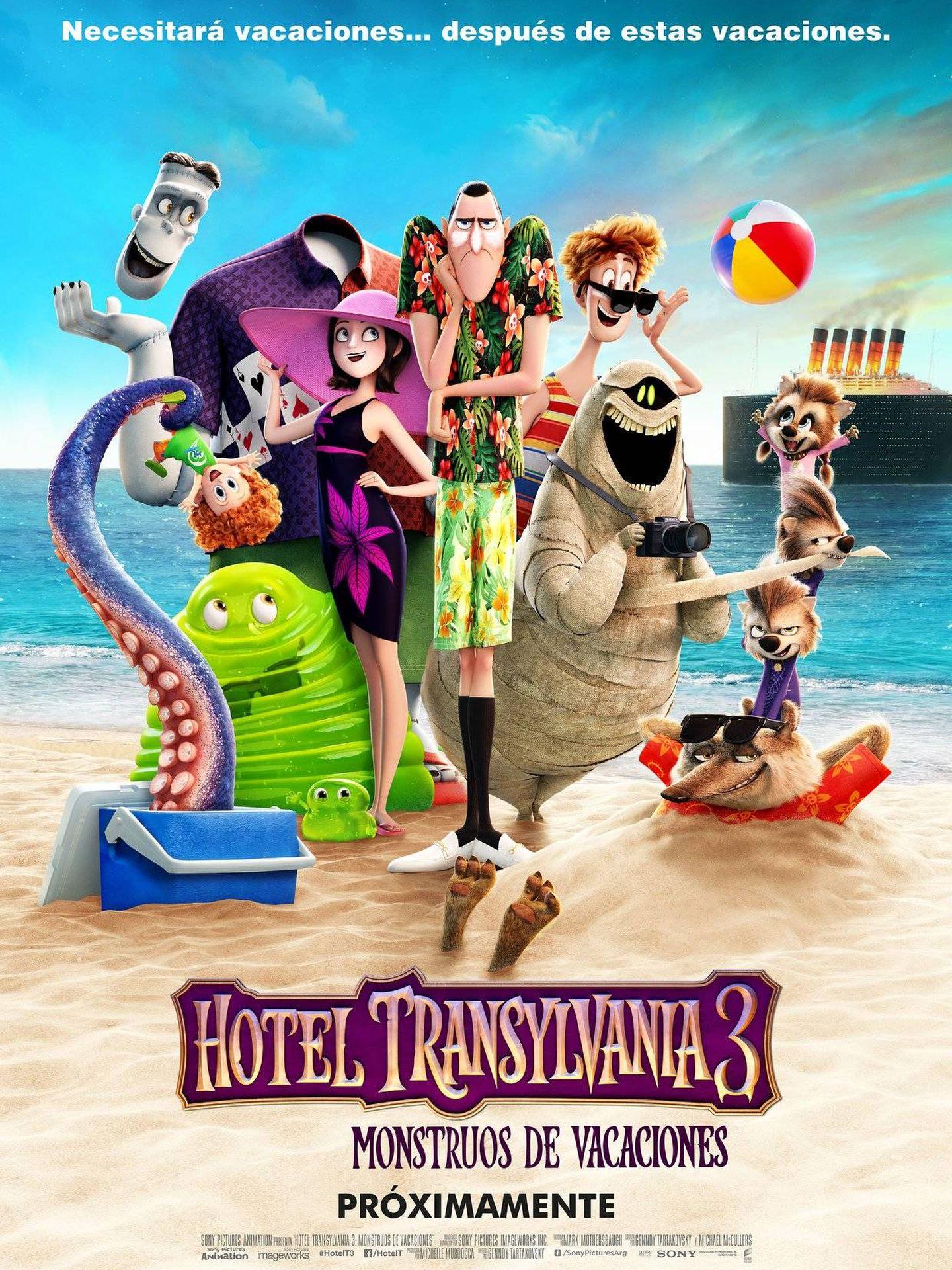 Cartel de 'Hotel Transilvania 3'.