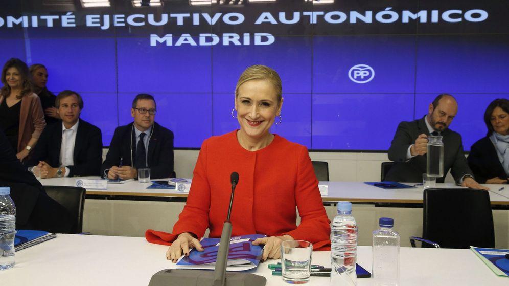 Foto: La presidenta de la Comunidad de Madrid y presidenta del PP de Madrid, Cristina Cifuentes, durante el comité ejecutivo autonómico del partido. (EFE)
