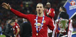 Post de Un gol tardío de Ibrahimovic da la Copa de la Liga al United de Mourinho
