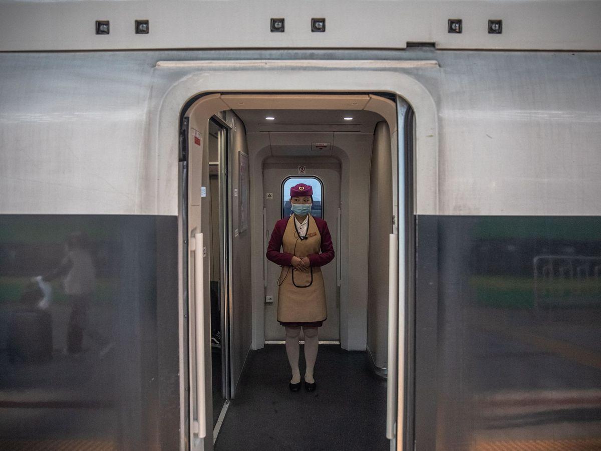 Foto: Tren en Wuham. (EFE)