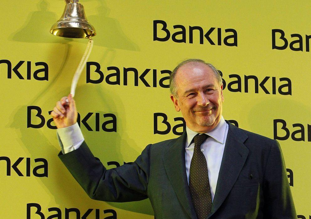 Foto: Rodrigo Rato, en la salida a bolsa de Bankia, en julio de 2011 (EFE)
