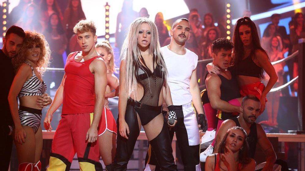 Foto: Mimi Doblas interpreta a Christina Aguilera en 'TCMS'. (Atresmedia)